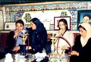 au salon de thé - Téhéran