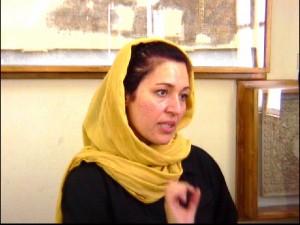 Farah, au musée de Téhéran