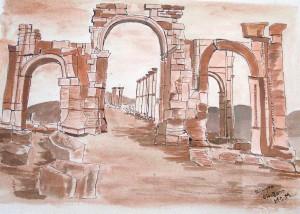 Palmyre la porte d'Hadrien