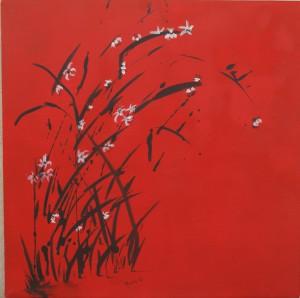 bambou & fleurs de pêchers
